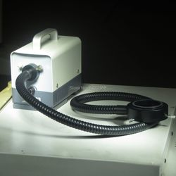 MINI Portable LED 20W Microscope Cold Light Source 8mmX1000mm Ring Style Optical Fiber Cable Microscopy Examination