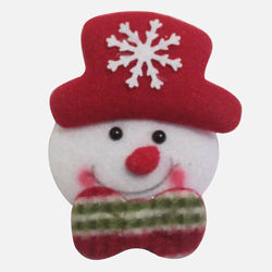 Christmas Glitter Creative Fabric Brooch Accessories Cartoon Glowing Brooch Atmosphere Rendering Props Lighting Decorations