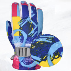 Winter Heated gloves Kids Women Ski Gloves Windproof Winter Snowboard Thermal Insulated Snow Gloves Boys Girls Outdoor Sports