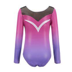 Long Sleeved Diamonds Gradient Body Suit Ballet Dance Gymnastics Practice Clothes 5-12Y