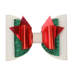 Baby Christmas Sequins Hair Bows Clips for Girls Xmas Snowman Antlers Lollipop Party Hairgrips Kids Gift Headwear Accessories