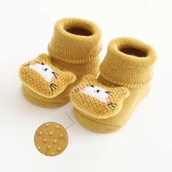 Thick Terry Socks Baby Toddler Socks Doll Cartoon Non-slip Newborn Socks Children Floor Socks Keep Warm Infants Socks