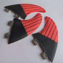 Fiberglass honeycomb FCS G5 surf fins Pink half carbon surf fin 3pcs per set