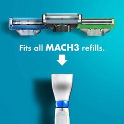 Gillette Mach 3 Turbo 3D Men's Razor Handle Machine for Shaving Razor Blade Cassettes Shaver For Beard with Rubber Sleeve