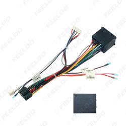 Car 16Pin Power Wiring Harness Cable Adapter With Canbus For BMW E46/E39(1995-2000)/E53(99) Install Aftermarket Android Stereo