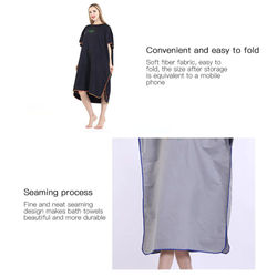 Lightweight Changing Robe for Women & Men Beach Towel Dryrobe Towel Changing Robe Towel Quick Dry Outdoors Sports Swimming Home