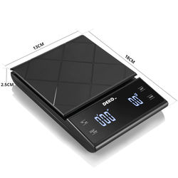 DEKO Digital Coffee Scale Weighting Instrument Electronic Balance LED Display High Precision with Timer Measuring Tools Gadgets