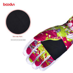 BOODUN Winter Warm Women's Ski Gloves Windproof Waterproof Snow Snowboard Gloves Antislip Outdoor Sports Skiing Thermal Gloves