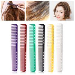 10Pc Detangling Hair Dressing Brush Colorful Plastic Hair Cutting Barber Comb Anti-Static Salon Styling Tool