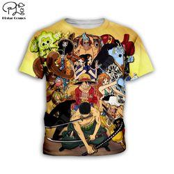 Kids Summer tshirt Anime boys girls clothing One piece 3d printed Kids Cartoon t shirts kawaii children Family tees tops style-6