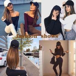 HOUYAN Long wig female summer synthetic temperament fashion trend long straight hair long hair hat wig straight hair