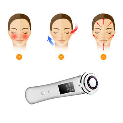 IPL Light Therapy Facial Cleanser,Ion Hot Face Massager, Electric Facial Lift Device