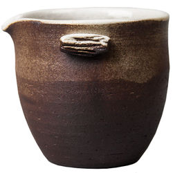 gongdao cup, retro uniform cup, kungfu tea set, firewood burning tea separator, Japanese style earthenware tea sea