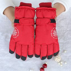 Snow Ski Gloves Women Winter Skiing Snowboard Gloves Ski Winter Waterproof Glove Fabric Thermal Gloves Ski Tools Cold-proof