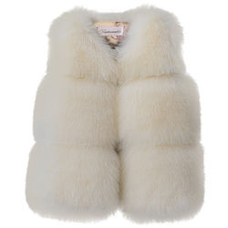 Fur Vest Coats For Kids Baby Girl Winter Clothes Soft Jacket Outerwear Warm Waistcoat Sleeveless Clothing Solid Color Children