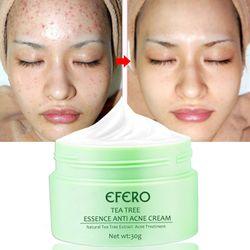 EFERO Tea Tree Essence Anti Acne Cream for Face Cream Anti-Aging Anti Winkles Collagen Eye Cream Lifting Firming Skin Care