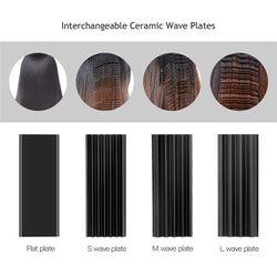 Professional 4 In 1 Ceramic Hair Straightener Crimper Corrugated Curling Flat Iron Hair Curl Waver Roller Curler Wave Styer