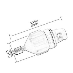 Hot Sale Air Valve Adaptor Skillful Manufacture Rowing Boat Air Valve Adaptor Nylon Kayak Inflatable Pump Adapter for SUP Board