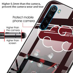 Anime Naruto Tempered Glass Case Coque for Xiaomi Redmi Note 8T 9S 7 8 9 Pro Redmi K20 K30 Pro 7 8A Fundas Capa