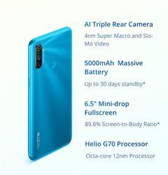 Realme C3 Global Version Mobile Phone 5000mAh Battery 3GB RAM 32GB 64GB ROM Helio Camera HD Mini-drop Fullscreen NFC Cellphone