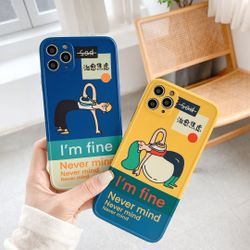 Cure Anxiety Boy Girl Back Cover For iPhone 11 Pro Max XS MAX X XR 8 7 6s 6 Plus SE 2020 Phone Case Mobile Phone Accessories