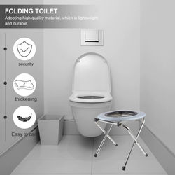 Portable Strengthened Foldable Chair Travel Camping Climbing Fishing Mate Chair Outdoor Activity Accessories Chair Toilet Seat