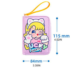 Women Girls Cartoon Card Holder Case Change Coin Pocket Zipper Wallet Organizer B36E