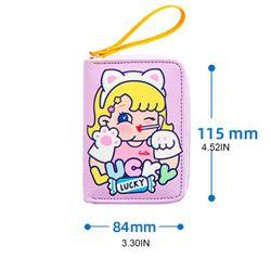 Women Girls Cartoon Card Holder Case Change Coin Pocket Zipper Wallet Organizer B36E