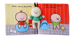 Baby Early Education and Wisdom Cloth Book 0-1-3 Years Old Children Enlightenment Toilet Bath Book Ring Paper Can Not Be Torn
