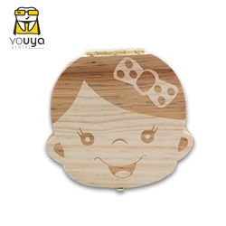 Wooden Children's Tooth Replacement Storage Box, Baby Teeth Collection, Tooth Fairy Box Milk teeth Protect The Memorial