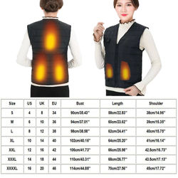 Electric Heated Vest Smart 5 Pieces Heating Film Electric Heating Clothes USB Heating 3 Gears Adjustable Warm Heated Vest