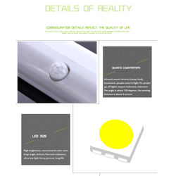 10 LEDs Night Light Motion Sensor Light Wireless Magnetic Stick-on Closet Wardrobe Cordless Motion Detector led Night Light Bar