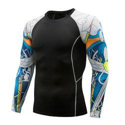 Men Long Sleeve Running Shirts Yoga T-Shirts Sports Shirts Quick Dry Fitness Gym Crop Tops Sportswear NANYJ9