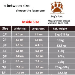 Outdoor Breathable Dog Shoes Waterproof Dog Boots Anti-Skid Wear-Resisting Reflective Pet Shoes for Small Medium large Dogs