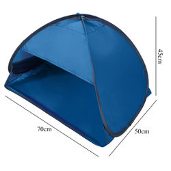 Summer Beach Sunshade Tent UV-protecting Sunshelter Automatic Opened Portable Outdoor Camping Sunshade Tent with Storage bag