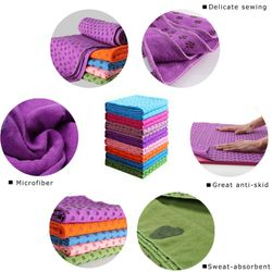 183*63cm Non Slip Yoga Towel Blanket Fitness Mat Odor Free Sweat Absorbent Yoga Mat Towel For Fitness Exercise Pilates Training