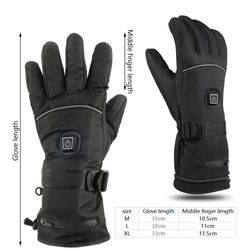 Motorcycle Gloves Electric Heated Gloves 4000MAh USB Rechargeable Windproof Winter Heated Skiing Warm Gloves For Men Women