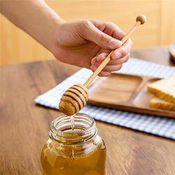 10pcs Wooden Honey Dipper Sticks 8/10cm Mini Honey Spoon Mixing Stick for Coffee Milk Tea Stir Bar Kitchen Tools Supplies