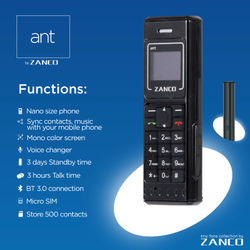 ZANCO world's smallest phone zanco ant fone mini phones cellular phone unlocked GSM cell phone bluetooth dail Buy factory direct