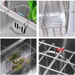 Kitchen Stainless Steel Sponge Rack Sink Storage Cabinet Soap Sink Drain Rack