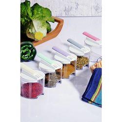 Kitchen World Acrylic Colorful Snap 5'li Bremen Spice Rack Set