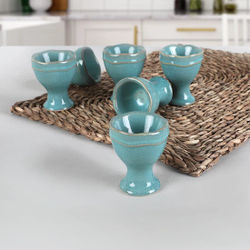 Turquoise Granite Juliet Ovary 6 PCs Stoneware Earthenware