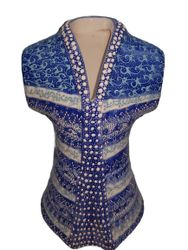 Handmade Ceramic Kaftan with Embossed Pattern