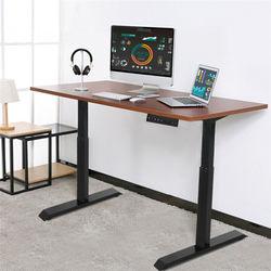 Electric Height Adjustable Standing Desk Frame Single Motor Memory Control Ergonomic Heavy-Duty Steel Stand Up Desk Frame Black