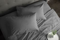 Sheraton Luxury 160gsm Flannelette Sheet Set (Single/Feather Grey) - Afterpay & Zippay Available