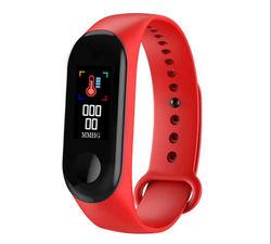 MI3 0.96'' TFT IP68 Waterproof Smart Bracelet Remote Camera Sleep Blood Oxygen Monitor Smart Watch -red