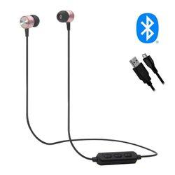 Wireless Lightweight Rechargeable Silicone Earbuds Earphones Speaker Sports - Pink