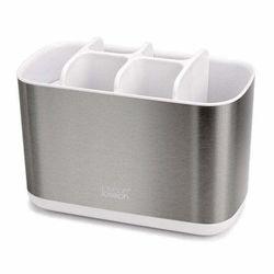 Joseph Joseph EasyStore Stainless Steel Toothbrush Holder Bathroom Caddy Large