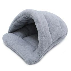Cat Kitten Igloo Cave Bed Warm Pet Small Dog Puppy Sleeping Cuddle Beds House