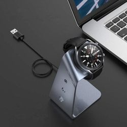 Aluminium Grey Wireless Charger Stand for Samsung Galaxy Watch 3 41mm